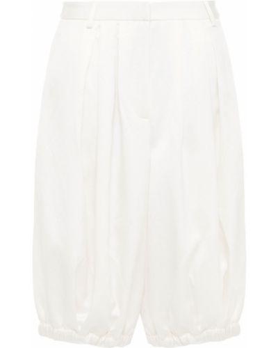 Текстильные бежевые шорты с карманами Tibi