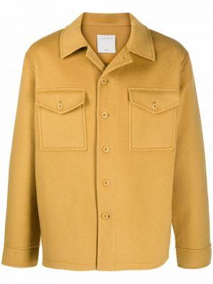 Żółta klasyczna kurtka Sandro Paris