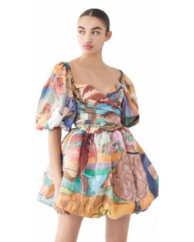 Хлопковое платье с подкладкой с манжетами Stella Jean