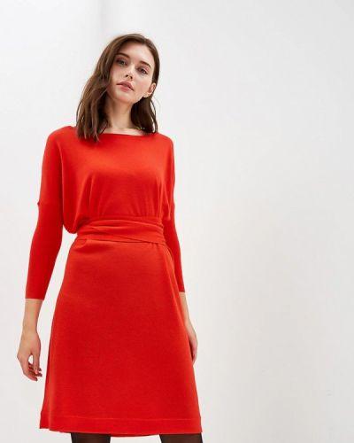 Платье вязаное красный Diane Von Furstenberg
