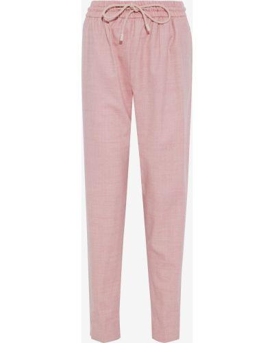 Różowe spodnie wełniane Roksanda