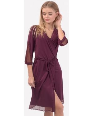 Фиолетовый домашний халат N.el.