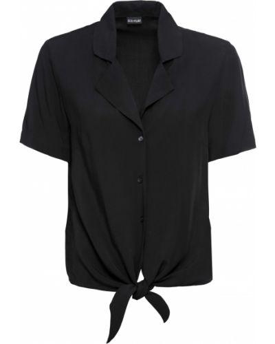 Блузка с коротким рукавом боди черная Bonprix