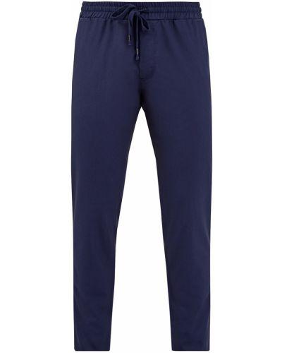 Прямые синие брюки стрейч Cudgi