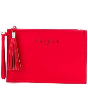 Клатч на молнии - красный Gaelle Bonheur