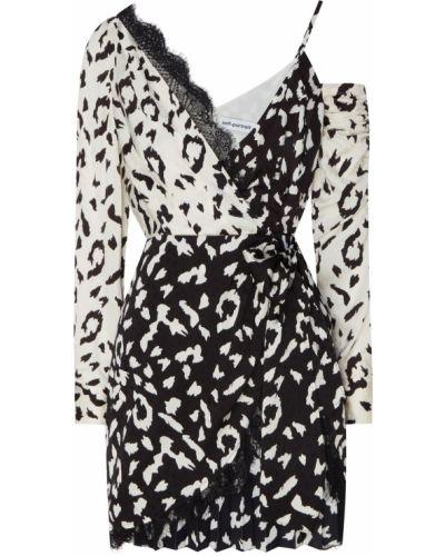 Платье мини с запахом леопардовое Self-portrait