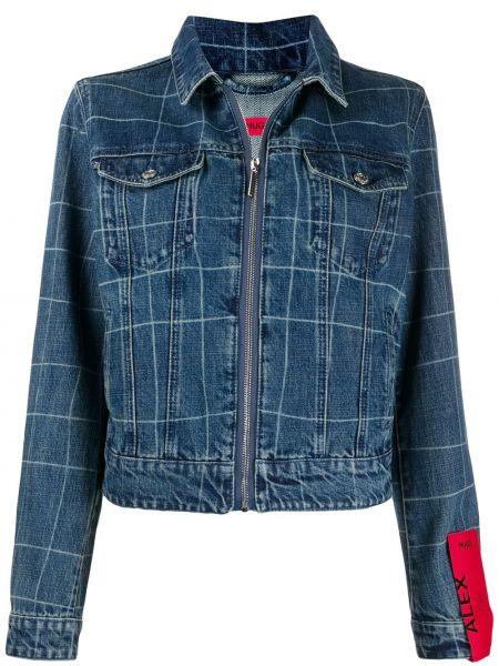 Классическая синяя джинсовая куртка с нашивками на молнии Boss Hugo Boss