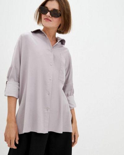 С рукавами серая блузка с длинным рукавом 7arrows