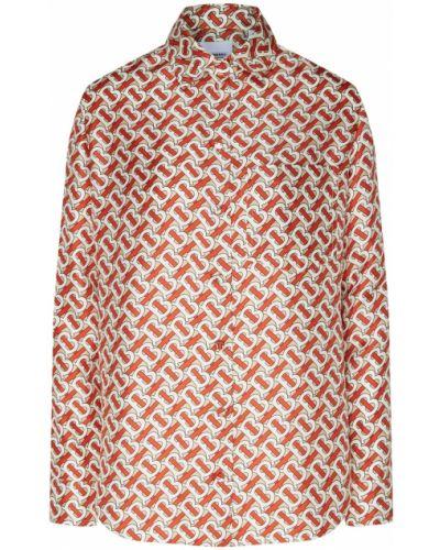 Блузка с длинным рукавом прямая шелковая Burberry