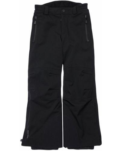 Nylon czarny spodnie z kieszeniami z mankietami Moncler Grenoble
