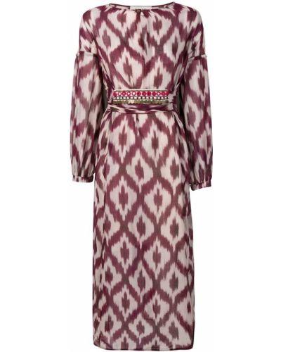 Платье миди с принтом - фиолетовое Bazar Deluxe