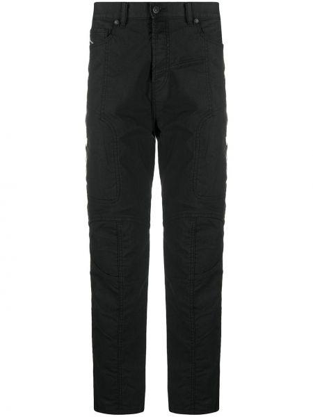 Прямые черные джинсы на пуговицах Diesel