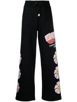 Czarne spodnie z wysokim stanem bawełniane Gcds