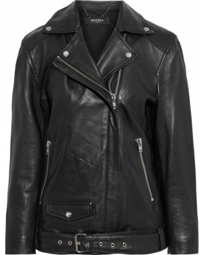 Черная кожаная куртка Muubaa