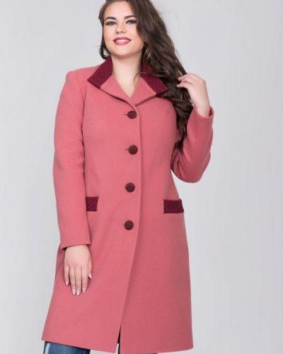 Розовое пальто с капюшоном Sergio Cotti