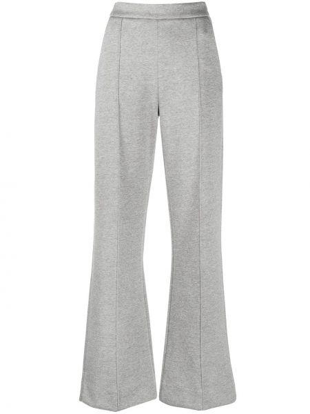Серые расклешенные брюки с карманами с высокой посадкой Dorothee Schumacher