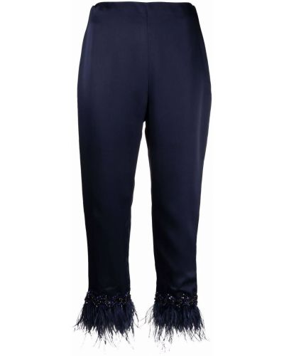 Niebieskie spodnie z wiskozy Jenny Packham