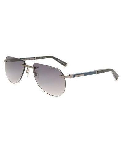 Серебряные солнцезащитные очки металлические Zilli