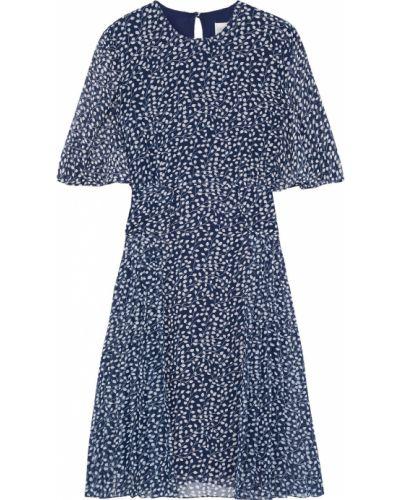 Плиссированное шифоновое платье с подкладкой Mikael Aghal