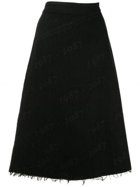 Черная с завышенной талией юбка из вискозы Yang Li