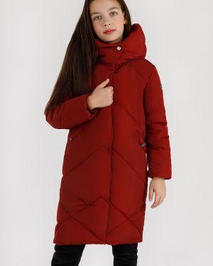 Пальто пуховое красный Finn Flare