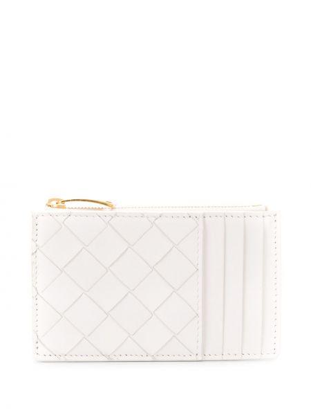 Кожаный кошелек золотой белый Bottega Veneta