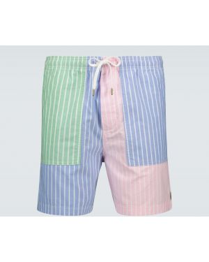 Белые короткие шорты на резинке Polo Ralph Lauren