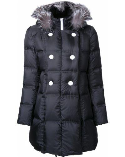 Черное пальто с капюшоном Loveless