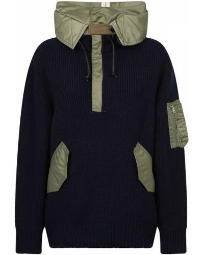 Niebieski sweter Sacai