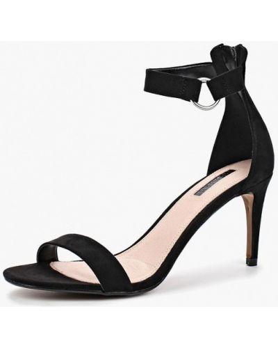 Босоножки на каблуке черные Topshop