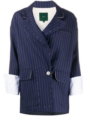 Синий классический пиджак с карманами на пуговицах Jejia