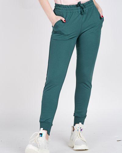 Хлопковые зеленые спортивные брюки Samo