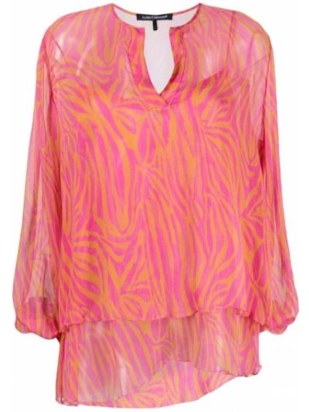 Розовая блузка с вырезом Luisa Cerano