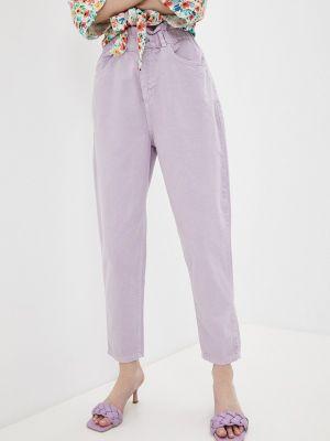 Фиолетовые повседневные брюки Defacto