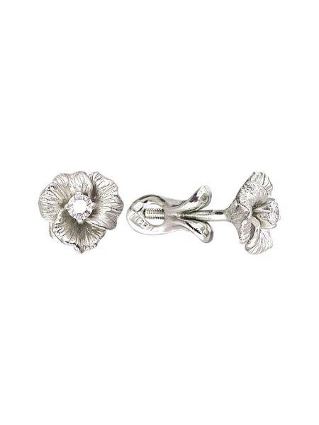 Золотые серьги серьги-гвоздики с бриллиантом альдзена