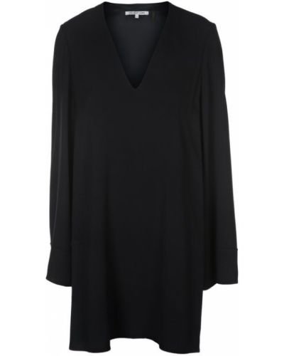 Платье мини с V-образным вырезом из вискозы Helmut Lang
