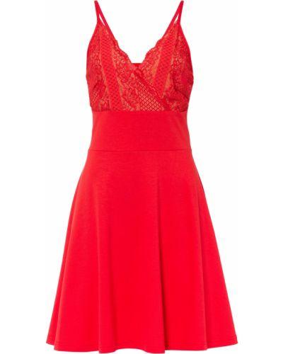 Ажурное платье - красное Bonprix