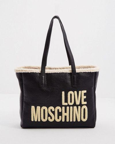 Сумка шоппер - черная Love Moschino