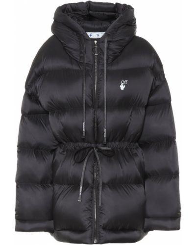 Пуховая черная дутая куртка Off-white