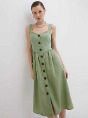 Хлопковое зеленое сарафан Zarina