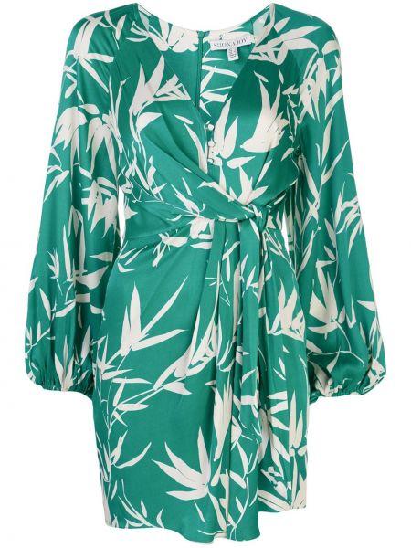 Платье с запахом с V-образным вырезом на молнии из вискозы Shona Joy