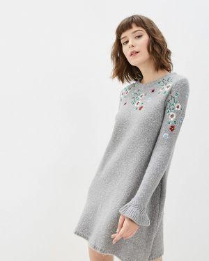 Платье серое вязаное Yumi