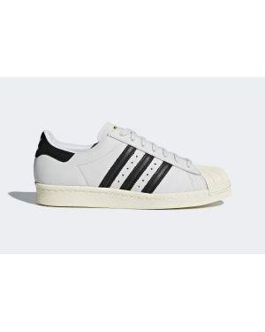 Skórzane sneakersy białe z nubuku Adidas