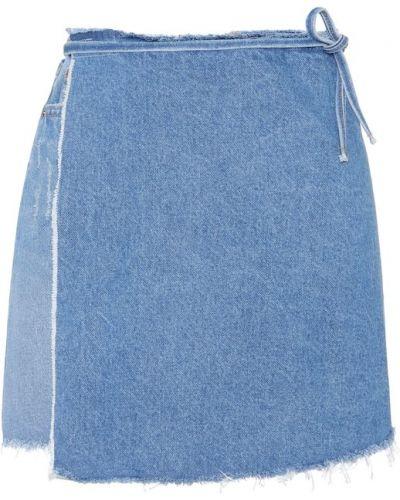 Юбка миди с запахом джинсовая Grlfrnd