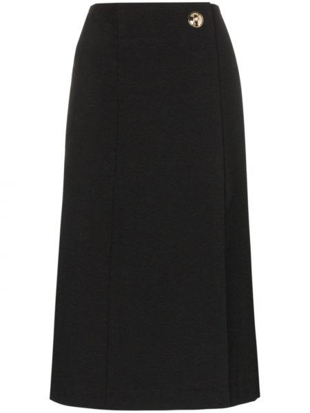 Złota czarna spódnica ołówkowa kopertowa Givenchy