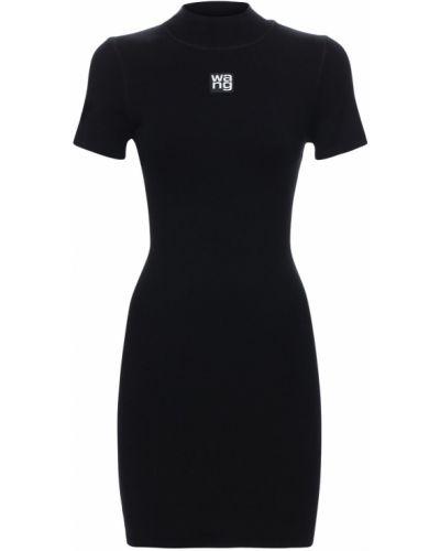 Czarny sukienka mini rozciągać Alexander Wang