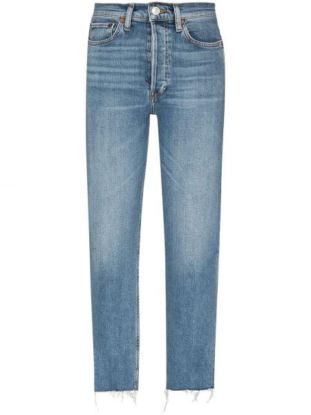 Хлопковые синие джинсы Re/done