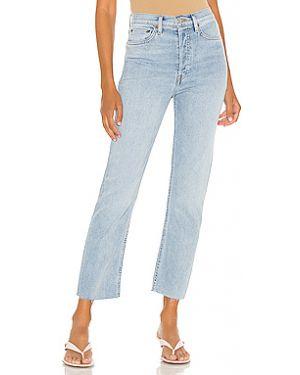 Прямые хлопковые прямые джинсы на пуговицах Re/done