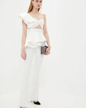 Белый облегающий костюмный брючный костюм Lipinskaya Brand