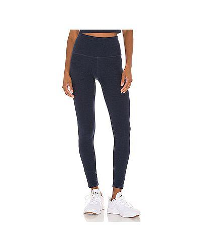 Синие брюки для йоги эластичные Beyond Yoga
